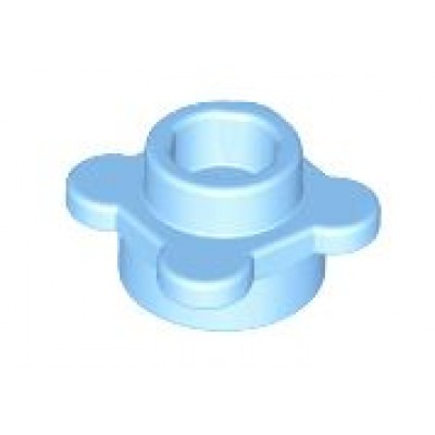 LEGO Flower Plate Bright Light Blue