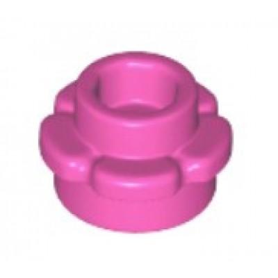 LEGO Flower Plate (5 Petals) Dark Pink