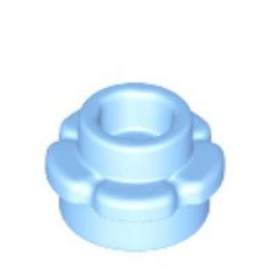 LEGO Flower Plate (5 Petals) Bright Light Blue