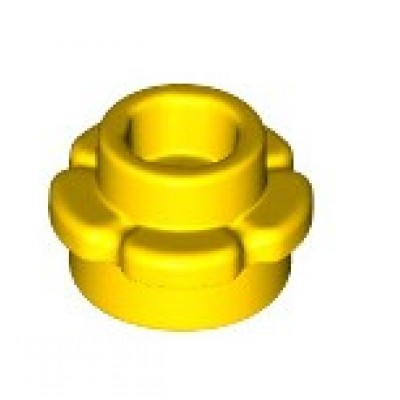 LEGO Flower Plate (5 Petals) Yellow