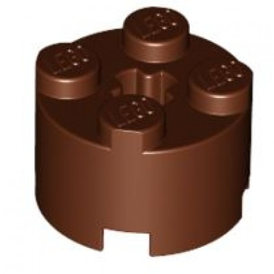 LEGO 2 x 2 Round Brick (Reddish Brown)