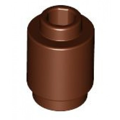 LEGO 1 x 1 Round Brick - (Reddish Brown) Open Stud