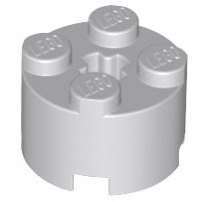 LEGO 2 x 2 Round Brick - (Light Bluish Grey)