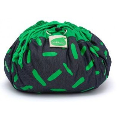 Brikbag Bitty - Green Dash Print