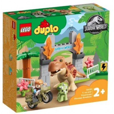 LEGO® DUPLO® Jurassic World T. rex and Triceratops Dinosaur Breakout 10939