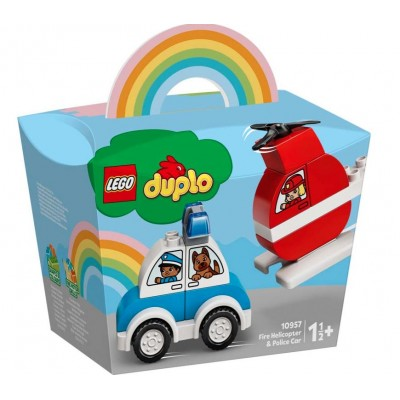 LEGO® DUPLO® My First Fire Helicopter and Police Car 10957