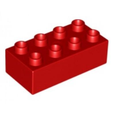 2 x 4 DUPLO Brick Red