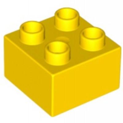 2 x 2 DUPLO Brick Yellow