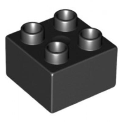 2 x 2 DUPLO Brick Black