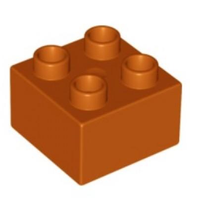 2 x 2 DUPLO Brick Dark Orange