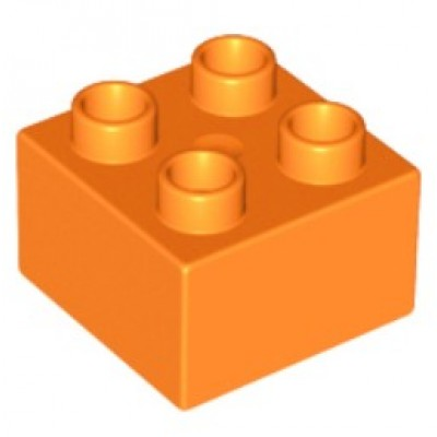 2 x 2 DUPLO Brick Orange
