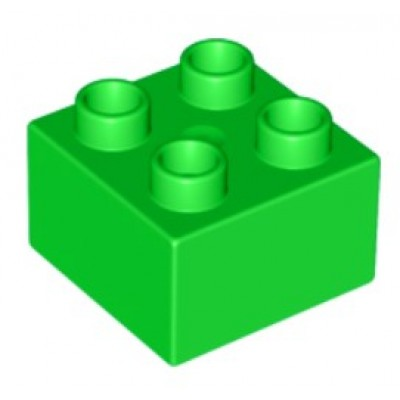 2 x 2 DUPLO Brick Bright Green