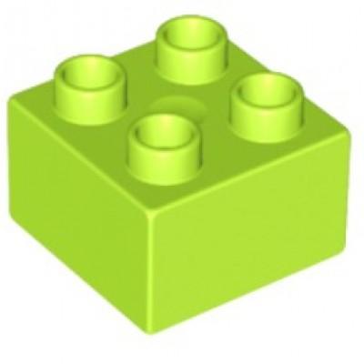 2 x 2 DUPLO Brick Lime