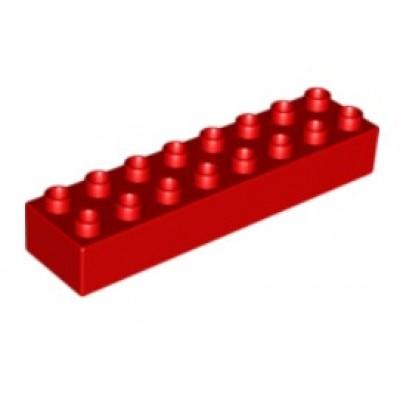 2 x 8 DUPLO Brick Red