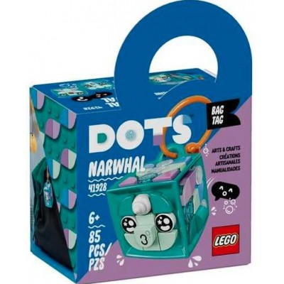LEGO® DOTS Bag Tag Narwhal 41928