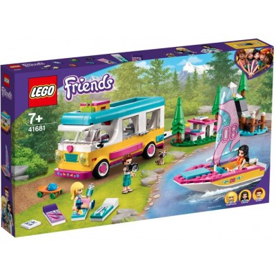 LEGO® Friends Forest Camper Van and Sailboat 41681