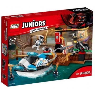 LEGO® Juniors Zane's Ninja Boat Pursuit 10755