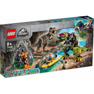 LEGO® Jurassic World T. rex vs Dino-Mech Battle 75938