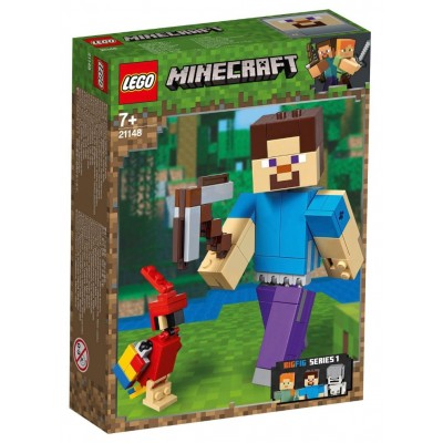 LEGO® Minecraft™ Steve BigFig with Parrot 21148