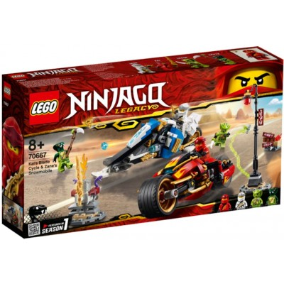 LEGO® NINJAGO® Kai's Blade Cycle & Zane's Snowmobile 70667