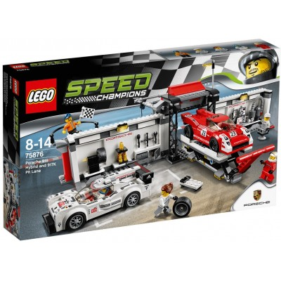 LEGO® Porsche 919 Hybrid and 917K Pit Lane 75876