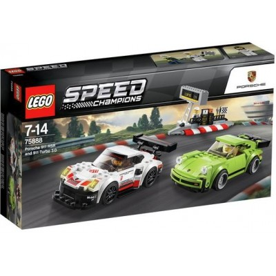 LEGO® Speed Champions Porsche 911 RSR and 911 Turbo 3.0 75888