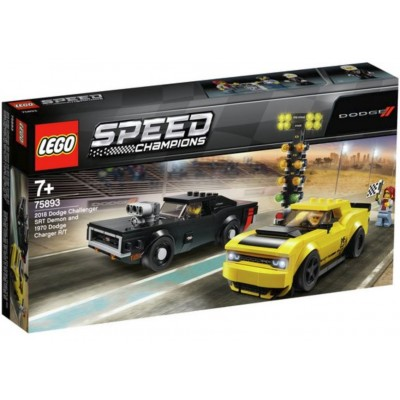 LEGO® Speed Champions 2018 Dodge Challenger SRT Demon and 1970 Dodge Charger R/T 75893