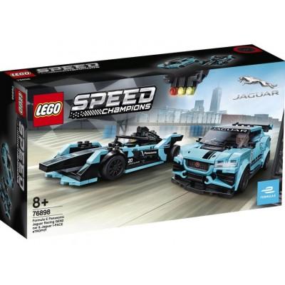 LEGO® Speed Champions Formula E Panasonic Jaguar Racing GEN2 car & Jaguar I-PACE eTROPHY 76898
