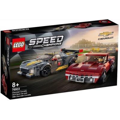 LEGO® Speed Champions Chevrolet Corvette C8.R Race Car and 1968 Chevrolet Corvette 76903