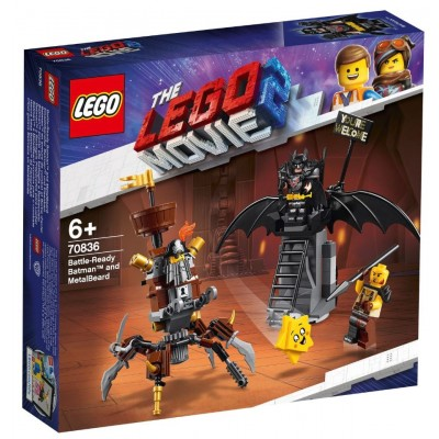 LEGO® THE LEGO® MOVIE 2™ Battle-Ready Batman™ and MetalBeard 70836