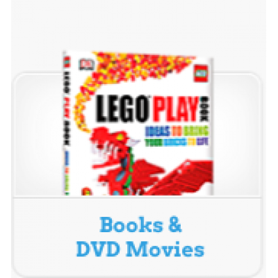 LEGO® BOOKS & DVD MOVIES