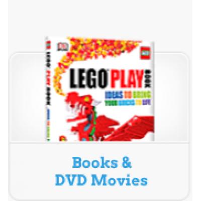LEGO® BOOKS & DVD MOVIES