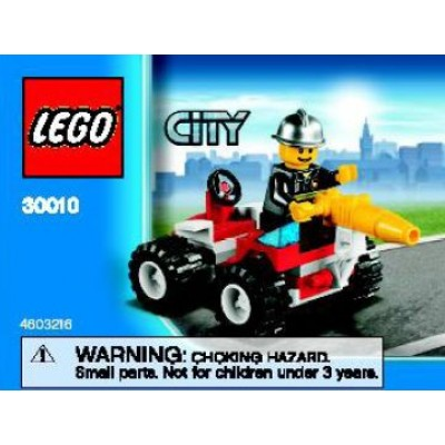LEGO® City Fire Fighter with Car - Polybag 30010