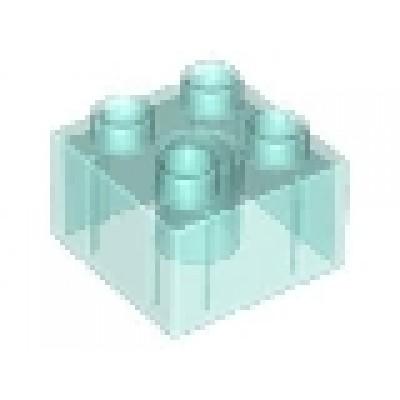2 x 2 DUPLO Brick Transparent Blue