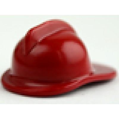 LEGO Minifigure Fireman Helmet - Dark Red