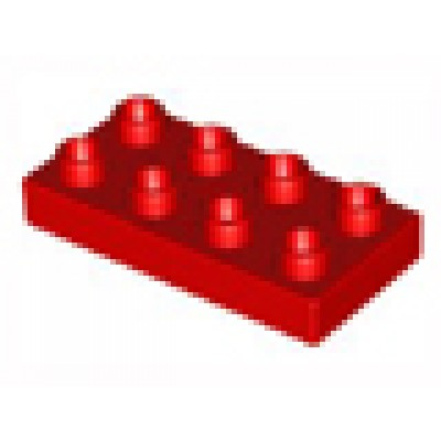 LEGO DUPLO 2 x 4 Plate Red