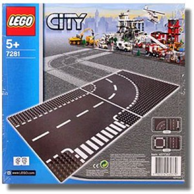 LEGO® City T-Junction & Curved Road Plates