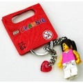 LEGO Classic Girl Key Chain (may have pink heart)